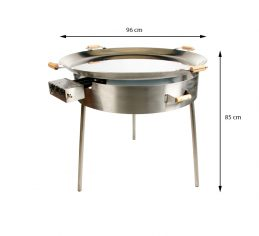 GrillSymbol Paella Stekehelle Sett PRO-960 inox