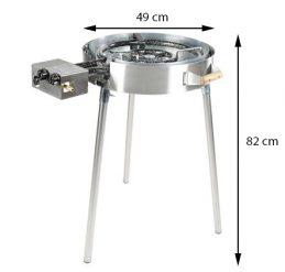 Grillsymbol Innendørs og Utendørs Gasskomfyr TW-580i