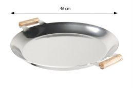 GrillSymbol Paella Rustfritt Stekehelle PRO-460 inox