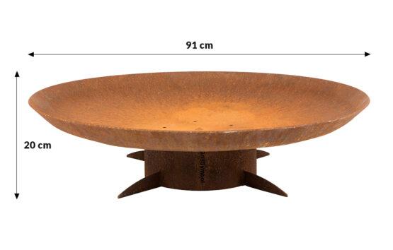 GrillSymbol Utepeis i cortenstål Chiaro XL