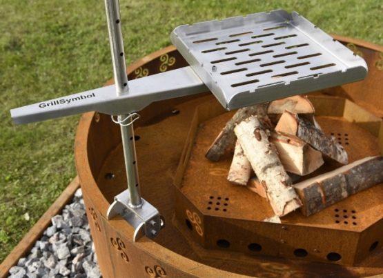 Cor-Ten Steel Fire Pit Grill Arttu