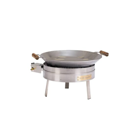 GrillSymbol Stekehelle Wok Sett PRO-450 inox