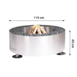 GrillSymbol utendørs ildsted Luna Silver ø 119 cm