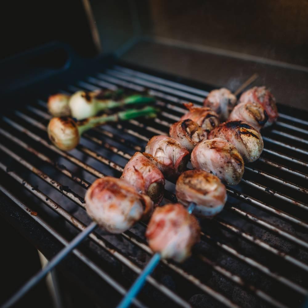 Grillede sjampinjonger med bacon
